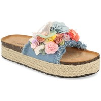Zapatos Mujer Zuecos (Mules) Ainy LSS-19 Azul