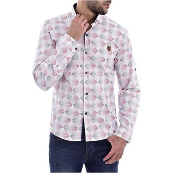 textil Hombre Camisas manga larga Goldenim Paris Camisas 1043 blanco