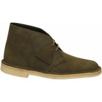Zapatos Hombre Botas de caña baja Clarks DESERTBOOT M dark-oliva