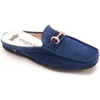 Zapatos Mujer Zuecos (Clogs) Soler & Pastor 297-A01 Azul