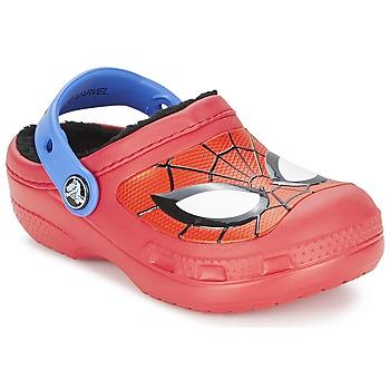Zapatos Niño Zuecos (Clogs) Crocs SPIDERMAN LINED CLOG Rojo