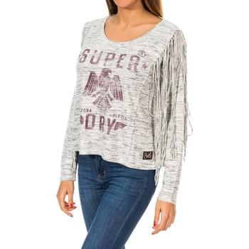 textil Mujer Jerséis Superdry Colorado Fringe L/S Tee Gris