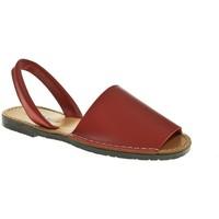 Zapatos Mujer Sandalias Duendy MENORQUINA SEÑORA  ROJO Rojo