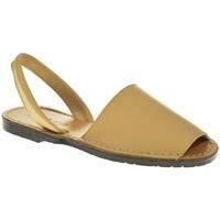 Zapatos Mujer Sandalias Duendy 350 Beige