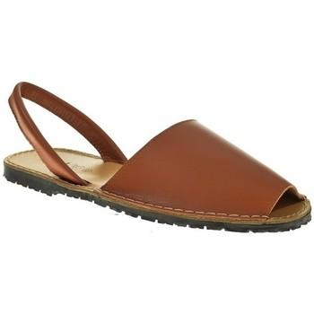 Zapatos Mujer Sandalias Duendy MENORQUINA SEÑORA  CUERO Marrón