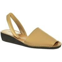 Zapatos Mujer Sandalias Duendy MENORQUINA SEÑORA  BEIGE Blanco