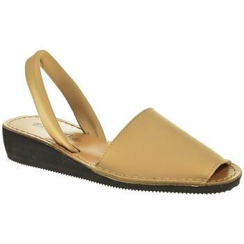 Zapatos Mujer Sandalias Duendy 1350 Beige