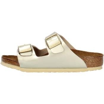 Zapatos Niña Zuecos (Mules) Birkenstock 1014841 platino
