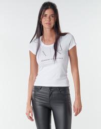 textil Mujer Camisetas manga corta Armani Exchange 8NYT83 Blanco