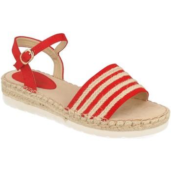 Zapatos Mujer Sandalias Suncolor 9085 Rojo