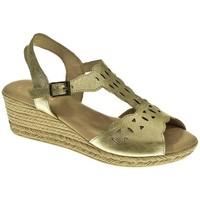Zapatos Mujer Sandalias Duendy SANDALIA CUÑA  PLATINO Gris