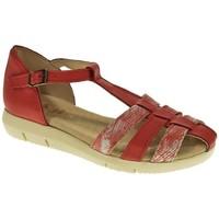 Zapatos Mujer Sandalias Duendy SANDALIA PLANA  ROJO Rojo