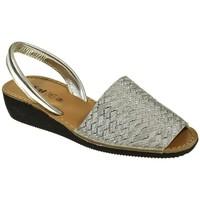Zapatos Mujer Sandalias Duendy MENORQUINA SEÑORA  PLATA Gris