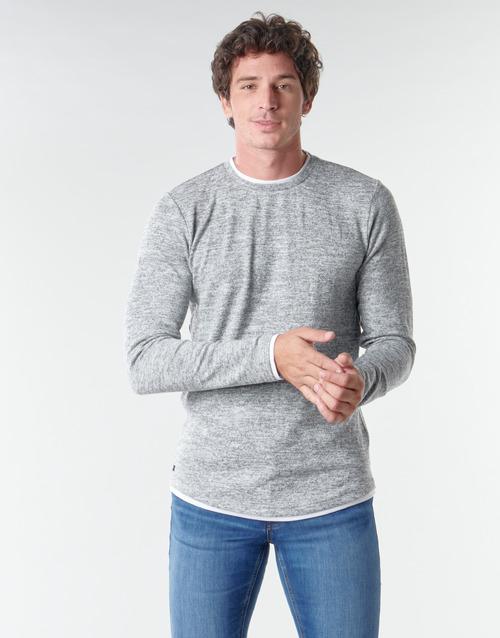 textil Hombre Camisetas manga larga Deeluxe MOHANSON Gris