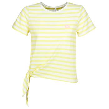 textil Mujer camisetas manga corta Only ONLBRAVE Amarillo