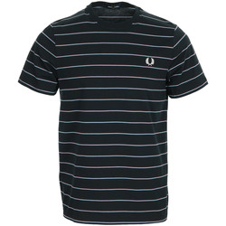 textil Hombre Camisetas manga corta Fred Perry Fine Stripe T-shirt Azul