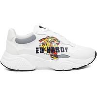 Zapatos Zapatillas bajas Ed Hardy Insert runner-tiger-white/multi Blanco