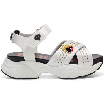 Zapatos Mujer Sandalias de deporte Ed Hardy Flaming sandal white Blanco