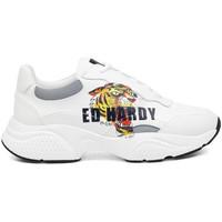 Zapatos Hombre Zapatillas bajas Ed Hardy - Insert runner-tiger-white/multi Blanco
