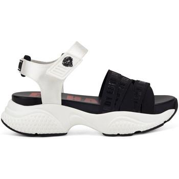 Zapatos Mujer Sandalias Ed Hardy - Overlap sandal black/white Blanco