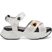 Zapatos Mujer Sandalias Ed Hardy - Flaming sandal white Blanco