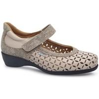 Zapatos Mujer Bailarinas-manoletinas Calzamedi LETINAS  SQUARE BEIGE