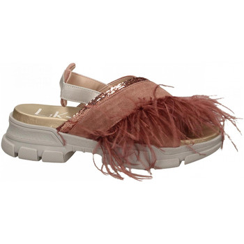 Zapatos Mujer Sandalias L4k3 SANDAL PIUME STRUZZO rosa