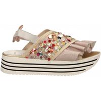 Zapatos Mujer Sandalias L4k3 SANDAL SUPER PAILETTES beige