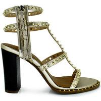 Zapatos Mujer Sandalias Exé Shoes SANDALIA TACÓN CON TACHUELAS GOLD SHIRLEY-755 Color Gold