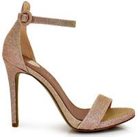 Zapatos Mujer Sandalias Exé Shoes SANDALIA PULSERA TACÓN AGUJA GLITTER PINK SILVIA-750 Color Rosa