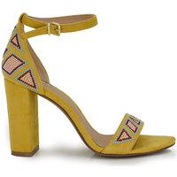 Zapatos Mujer Sandalias Exé Shoes SANDALIA TACÓN PULSERA GEOMÉTRICO AMARILLO LIDIA-433 Color Black Yellow