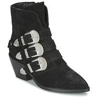 Zapatos Mujer Botas de caña baja Pepe jeans WESTERN W BUCKLE Negro