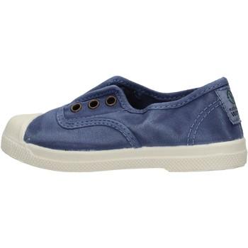 Zapatos Niño Zapatillas bajas Natural World - Scarpa elast blu 470E-628 BLU