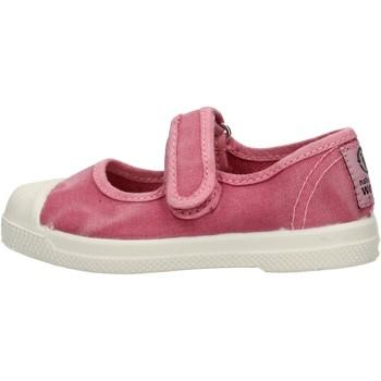 Zapatos Niña Zapatillas bajas Natural World - Scarpa velcro rosa 476E-603 ROSA