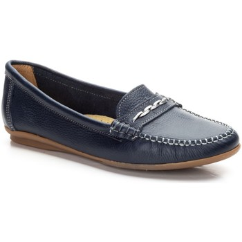 Zapatos Mujer Mocasín Par Y Medio Shoes Mocasines de mujer de piel by Par y Medio Bleu