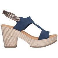 Zapatos Mujer Sandalias Oh My Sandals For Rin OH MY SANDALS 4700 SERR MARINO COMBI Mujer Azul marino bleu