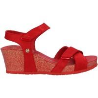 Zapatos Mujer Alpargatas Panama Jack VIERI BASICS B4 Rojo