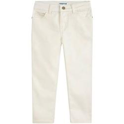 textil Niña Pantalones Mayoral Pant. largo sarga metalizada Beige
