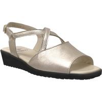 Zapatos Mujer Sandalias Marco Louna cuero platino