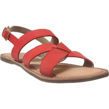 Zapatos Mujer Sandalias Kickers Diba-2 naranja