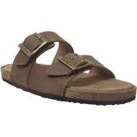 Zapatos Hombre Zuecos (Mules) Kickers Orano Cuero marrón medio