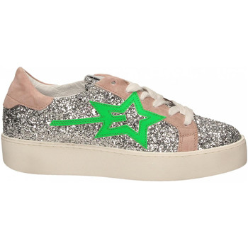 Zapatos Mujer Zapatillas bajas Gio + + LEILA GLITTER argento-verde