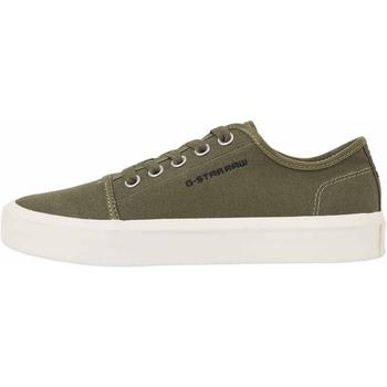 Zapatos Hombre Tenis G-Star Raw STREET II CANVAS MIX COMBAT Verde