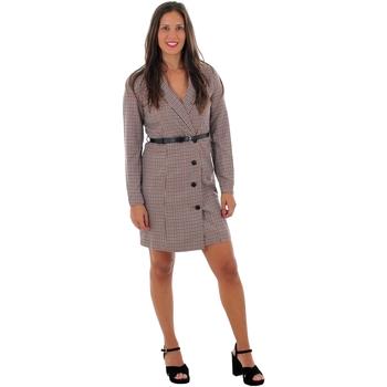 textil Mujer Vestidos cortos Vero Moda 10220439 VMALICIA L/S SHORT DRESS TOBACCO BROWN SMALL Beige
