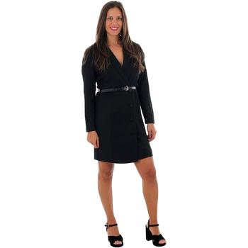 textil Mujer Vestidos cortos Vero Moda 10220439 VMALICIA L/S SHORT DRESS BLACK SOLID Negro