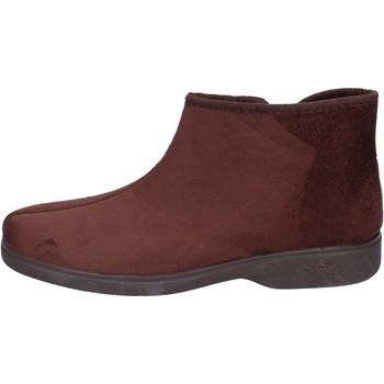 Zapatos Hombre Pantuflas Mauri Moda zapatillas gamuza sintética marrón