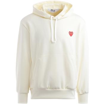 textil Hombre Sudaderas Comme Des Garcons Sudadera  marfil con corazón rojo Blanco