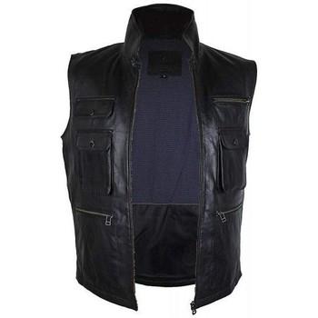 textil Chaquetas de cuero / Polipiel Zerimar ANTIOCH Negro
