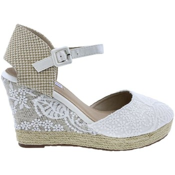 Zapatos Mujer Sandalias Mandarina Shoes Cuña Mandarina Leticia Blanco Blanco