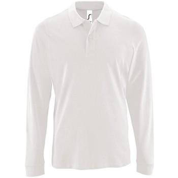 textil Hombre Polos manga larga Sols PERFECT LSL COLORS MEN Blanco